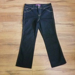 Gloria Vanderbilt Dark Denim Double Button Jeans